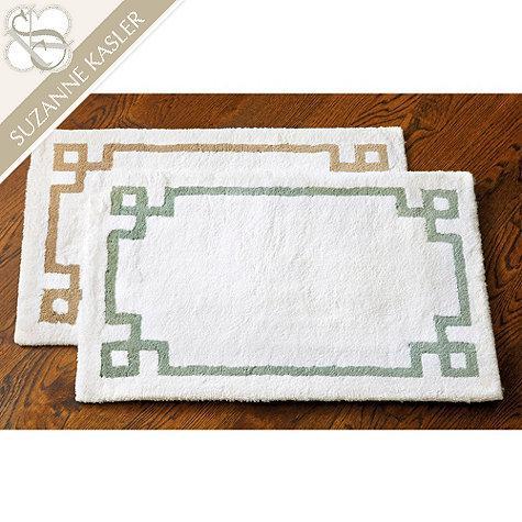 Suzanne kasler greek key bath mat ballard designs for Ballard designs bathroom rugs