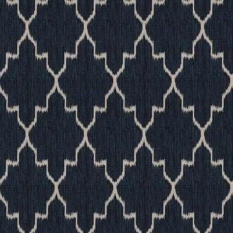 Fabrics - Indochine Ikat Denim Fabric By The Yard | Ballard Designs - denim ikat fabric, navy blue ikat fabric, ikat fabric,
