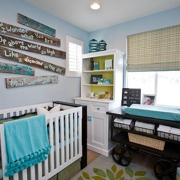 Blue and Yellow Nursery Design, Contemporary, nursery, Lulu Designs