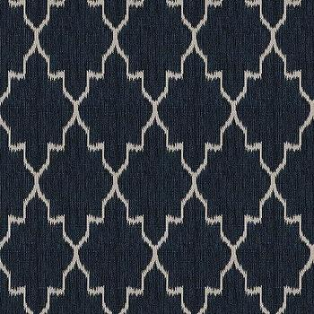 Indochine Ikat Denim Fabric By The Yard, Ballard Designs