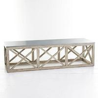 Tables - Trellis Coffee Table | Wisteria - x based zinc topped coffee table, zinc topped coffee table, wooden zinc topped coffee table,