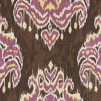 Fabrics - Marrakesh Ikat Purple Fabric by the Yard | Ballard Designs - purple and brown ikat fabric, ikat fabric, purple yellow and espresso ikat fabric,