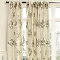 Window Treatments - Bingham Printed Damask Panel | Ballard Designs - cotton damask drapes, cotton damask panels, cotton damask curtains,