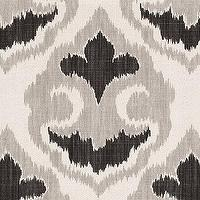 Fabrics - Florentina Ikat Gray Fabric By The Yard | Ballard Designs - ikat fabric, cream and gray ikat fabric, cream charcoal and gray ikat fabric,