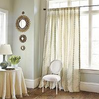 Window Treatments - Chloe Panel | Ballard Designs - leaf and vine curtain panel, ivory panels with vine pattern, ivory drapes with leaf and vine motif,