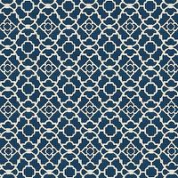 Fabrics - Hayley Blue Fabric by the Yard | Ballard Designs - indigo and cream geometric fabric, indigo blue geometric fabric, indigo geometric cotton fabric,