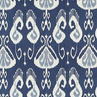 Fabrics - Toscana Ikat Blue Fabric By The Yard | Ballard Designs - blue ikat fabric, blue and cream ikat fabric, blue linen ikat fabric,
