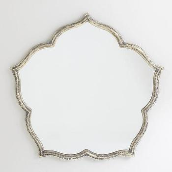 Mirrors - Magnolia Mirror | Wisteria - magnolia mirror, magnolia shaped mirror, silver magnolia shaped mirror,
