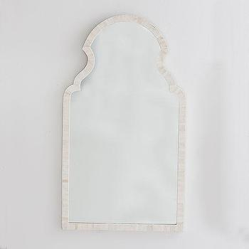 Mirrors - Moorish Bone Mirror | Wisteria - bone inlaid mirror, bone inlay mirror, moroccan bone inlaid mirror,