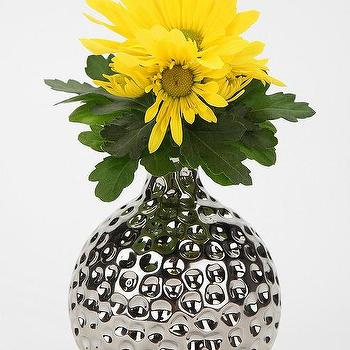 Decor/Accessories - Textured Metal Vase I Urban Outfitters - metal vase, silver metal vase, textured metal vase,