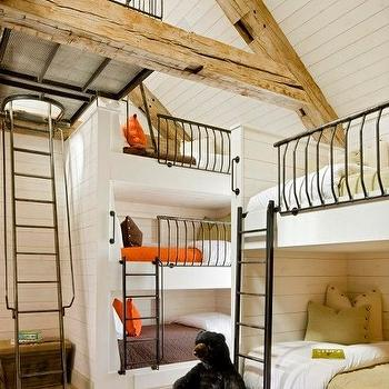 Built In Bunk Beds, Country, boy's room, Scarp Ridge Lodge