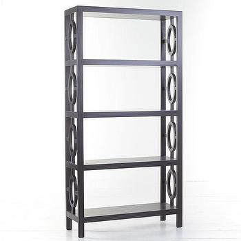 Contemporary Bookshelf, Obsidian Black, Wisteria