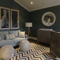 Giuliana & Bill Rancic - Adorable boy's nursery design with dark gray grasscloth ...