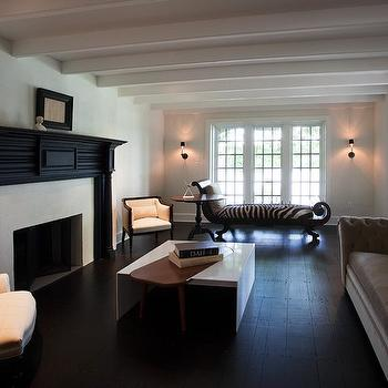 Black Fireplace, Transitional, living room, Sullivan Building and Design Group