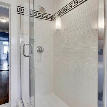Greek Key Tile Trim, Contemporary, bathroom, MA Allen Interiors
