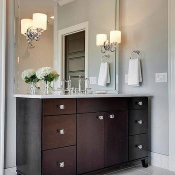 Espresso Vanity, Contemporary, bathroom, MA Allen Interiors