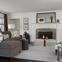 Kendall Charcoal Contemporary Living Room Benjamin