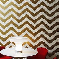 Wallpaper - Zee Tempaper Wallpaper | HomeDecorators.com - gold and white chevron wallpaper, removable chevron wallpaper, temporary chevron wallpaper,