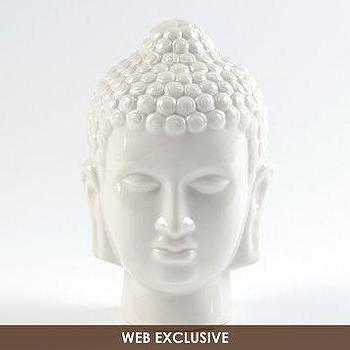 Decor/Accessories - White Ceramic Buddha Statue | Kirkland's - white buddha statue, ceramic buddha statue, white ceramic buddha statue,