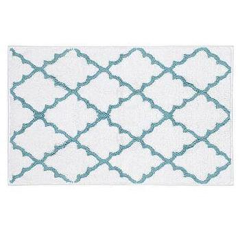Bath - Blue & White Lattice Bath Mat | Kirkland's - blue and white lattice bat mat, blue and white lattice bath rug, lattice bath rug, lattice bath mat,