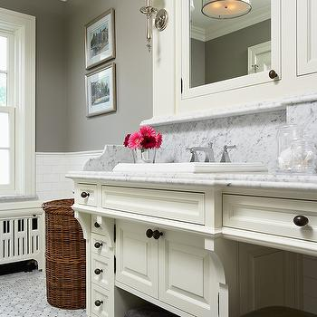 Rockport Gray, Transitional, bathroom, Benjamin Moore Rockport Gray, John Kraemer and Sons
