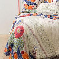 Bedding - Saray Quilt I Anthropologie.com - multi-colored quilt, vintage style quilt, multi-colored bedding,