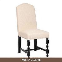 Seating - Amaranthine Linen Parsons Chair | Kirkland's - parons chair, linen parsons chair, linen parsons chair with nailhead trim,
