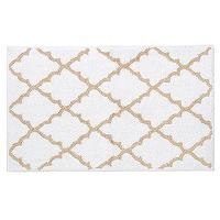 Bath - Tan & White Lattice Bath Mat | Kirkland's - white and tan lattice bath mat, white and tan lattice bath rug, lattice bath rug, lattice bath mat,