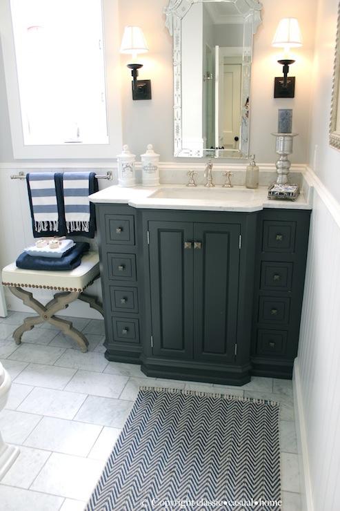 Chevron bath mat traditional bathroom classic casual for Casual bathroom ideas