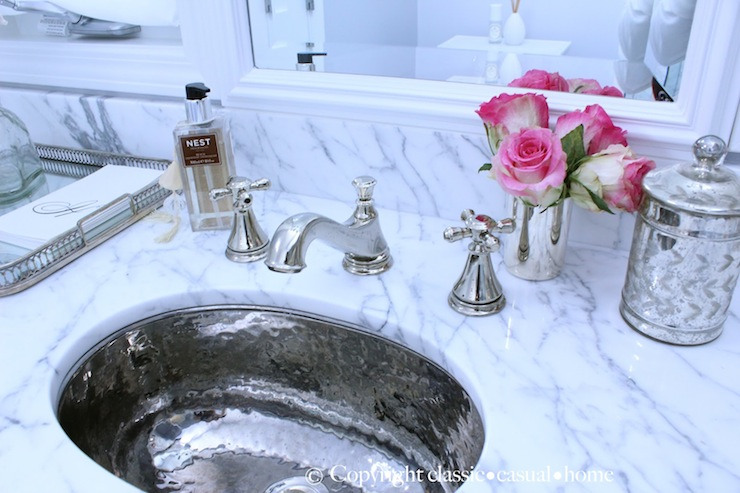Hammered Metal Sink Traditional Bathroom Classic Casual Home