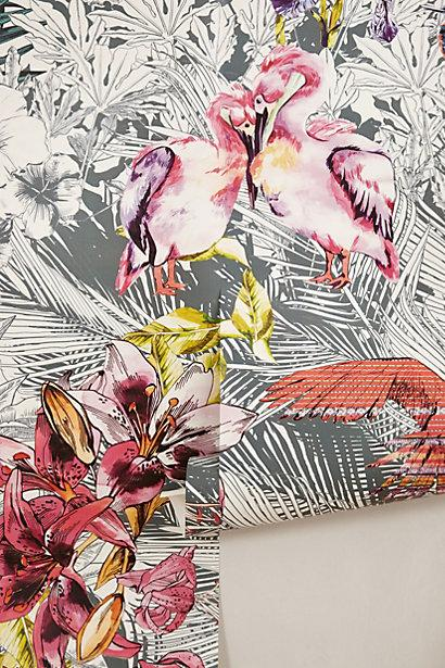 Birds of paradise mural i for Anthropologie mural