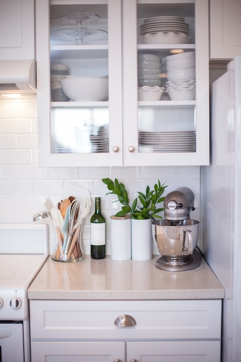 Corian Countertops - Transitional - kitchen - Grey and Scout