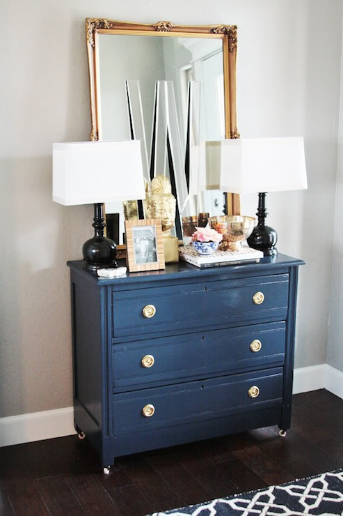 Painted Accent Chest Eclectic Living Room Sherwin