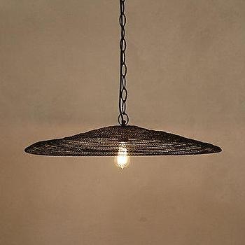 Lighting - Mesh Flatbrim Pendant I Anthropologie.com - mesh pendant light, aluminium pendant, aluminium mesh pendant,