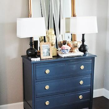 Painted Accent Chest, Eclectic, living room, Sherwin Williams Mindful Gray, Little Green Notebook