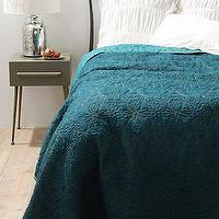 Bedding - Marseille Coverlet I Anthropologie.com - dark turquoise coverlet, teal blue coverlet, reversible dark turquoise coverlet,