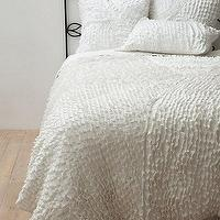 Bedding - Willow Quilt I Anthropologie.com - white quilt, organic cotton quilt, white textured quilt,