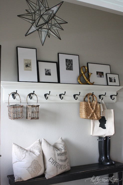 Row Of Hooks Cottage Laundry Room Holly Mathis Interiors