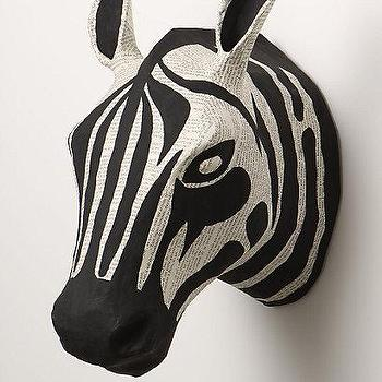 Art/Wall Decor - Savannah Story Bust, Zebra I Anthropologie.com - paper zebra bust, zebra bust, zebra bust wall decor, zebra bust wall sculpture,