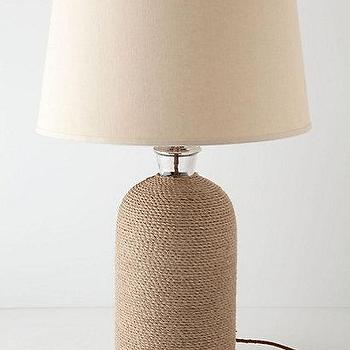 Lighting - Rope Wriggle Base I Anthropologie.com - rope lamp, jute rope lamp, nautical rope lamp,