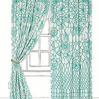 Window Treatments - Soraya Curtain I Anthropologie.com - aqua blue and white drapes, aqua blue and white curtains, turquoise and white drapes, turquoise and white curtains,