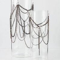 Decor/Accessories - Chained Vase I Anthropologie.com - chain vase, glass vase with chains, glass vase draped in chains,