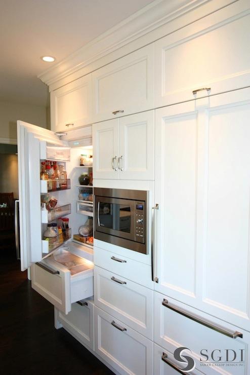 Hidden Refrigerators Transitional Kitchen Sarah