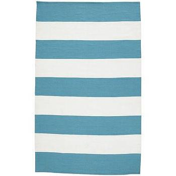 Rugs - Cabana Stripe Rugs - Turquoise I Pier 1 - turquoise and white striped rug, blue and white striped rug, turquoise and white striped outdoor rug,