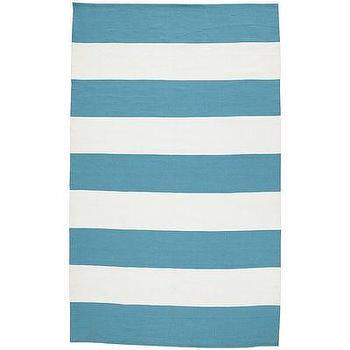 Cabana Stripe Rugs, Turquoise I Pier 1