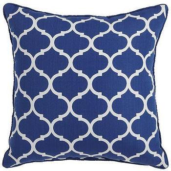 Pillows - Cabana Geometric Pillow - Cobalt I Pier 1 - blue geometric pillow, moroccan blue pillow, blue trellis pillow,