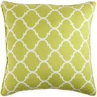 Pillows - Cabana Geometric Pillow - Green I Pier 1 - green moroccan pillow, green trellis pillow, green geometric pillow,