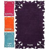 Rugs - Handmade Luna Moda Carved Purple Rug| Overstock.com - carved purple rug, carved orange rug, carved pink rug, carved blue rug, modern pink rug, modern purple rug, modern orange rug, modern blue rug,