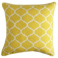 Pillows - Cabana Geometric Pillow - Lemon I Pier 1 - yellow moroccan pillow, yellow trellis pillow, yellow geometric pillow,