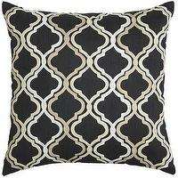 Pillows - Black & White Tile Pillow I Pier 1 - black and white trellis pillow, black and white moroccan pillow, black and white geometric pillow,